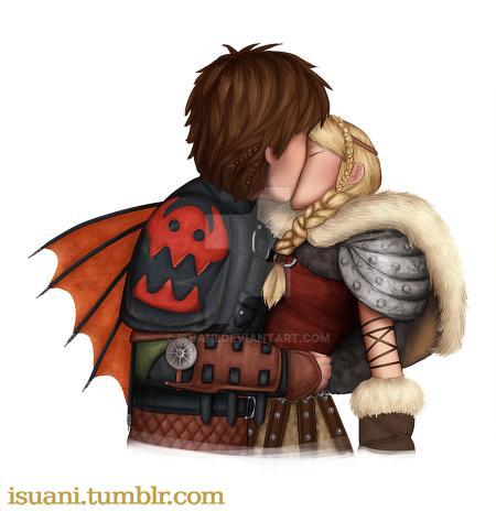 Как приручить дракона 2 поцелуи хезер и икенга